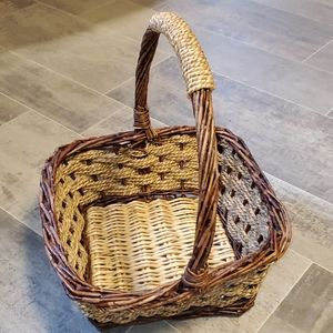 Vintage Small Twig&Woven Basket